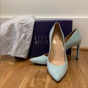 Stuart Weizmann Mint Suede Shoes